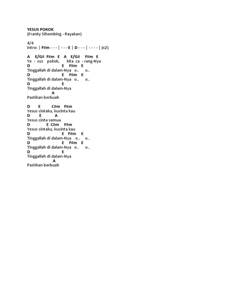 Yesus Pokok • Lirik Lagu Kristen