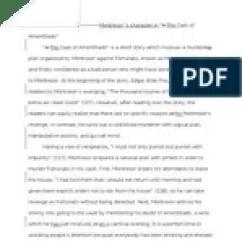 The Cask Of Amontillado Story Diagram Vw Pertronix Wiring Plot Analysis A