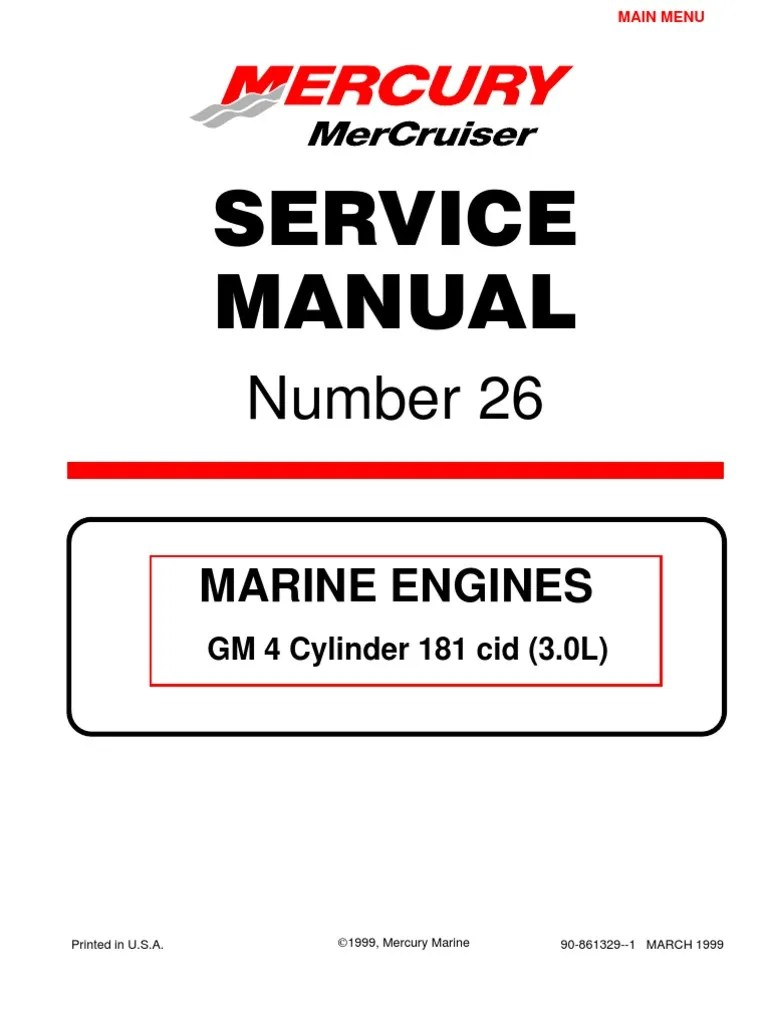 mercruiser 4 cyl 3 0 service manual gasoline internal combustion engine [ 768 x 1024 Pixel ]