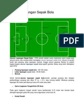 Gambar Gawang Sepak Bola : gambar, gawang, sepak, Ukuran, Lapangan, Sepak