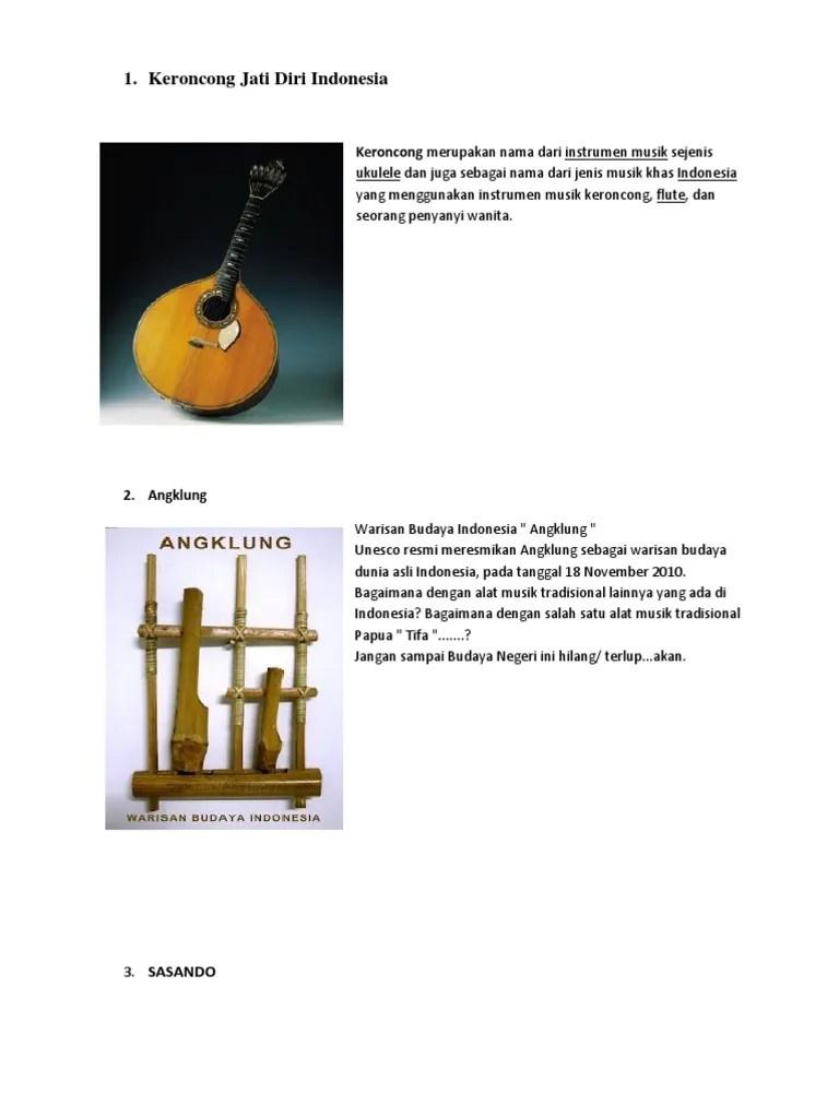 Jenis Musik Tradisional Papua : jenis, musik, tradisional, papua, Keroncong, Indonesia