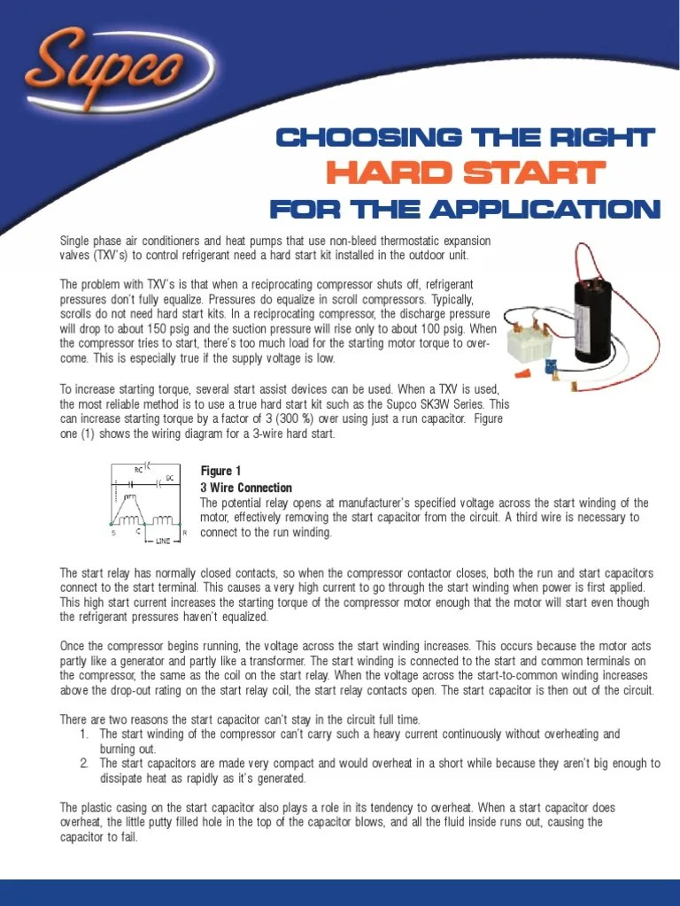 hight resolution of  a c compressor capacitor wiring diagram supco hard start kits applications relay series and parallel circuits