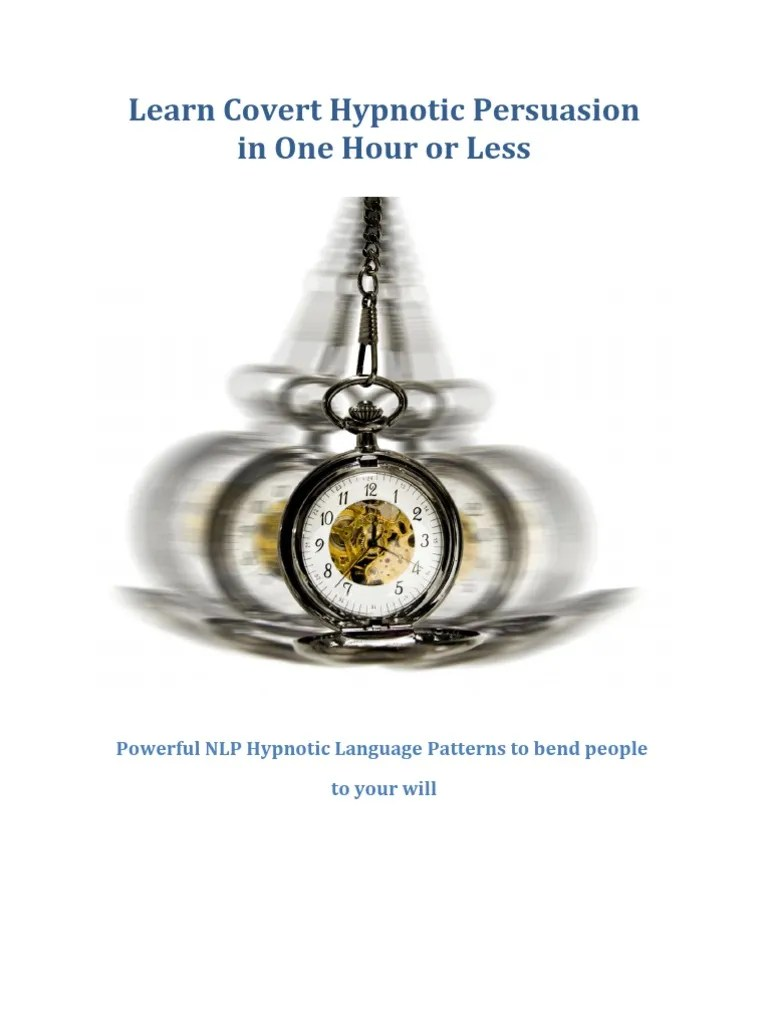 Download Covert Hypnotic Persuasion in One Hour or Less