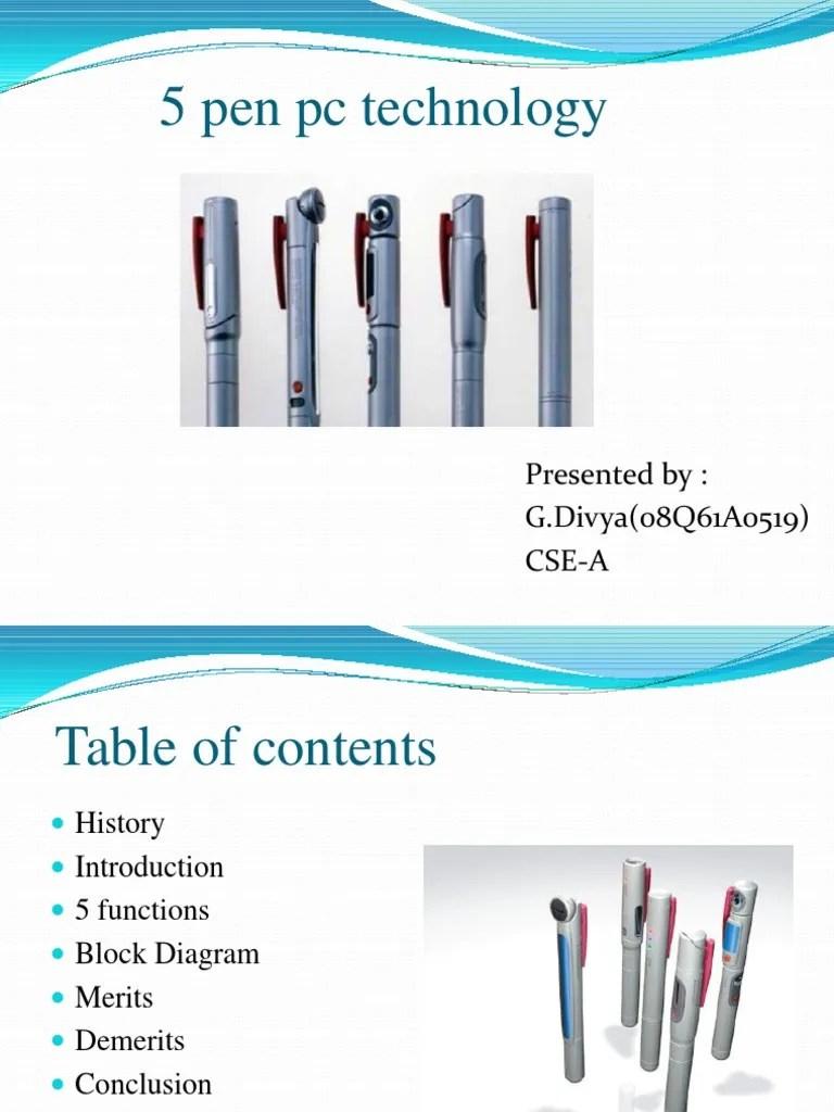 hight resolution of 5 pen pc technology powerpoint presentation computer keyboard computer architecture block diagram 5 pen pc technology block diagram
