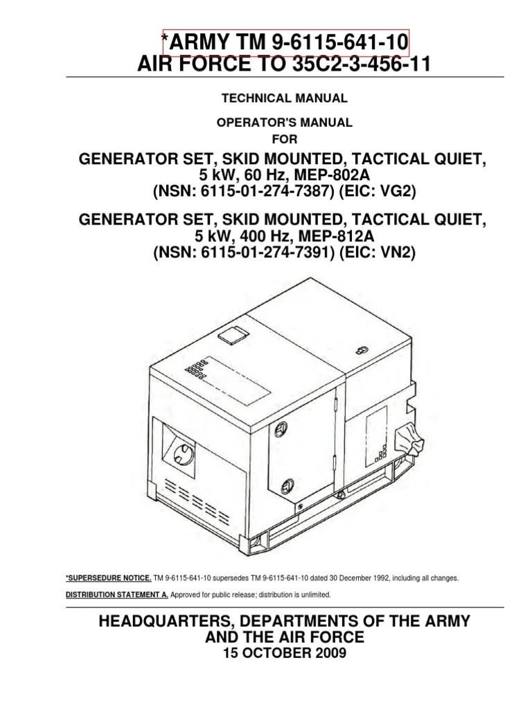 medium resolution of generator wire diagram 5 pin military