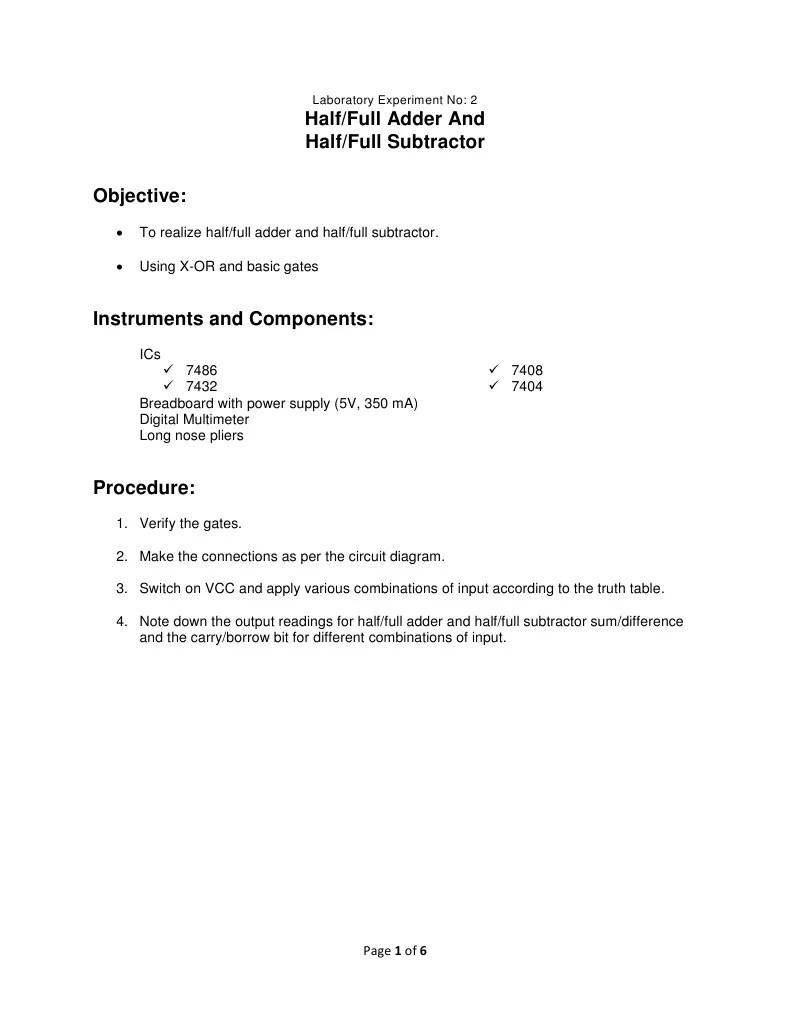 medium resolution of logic diagram of full subtractor