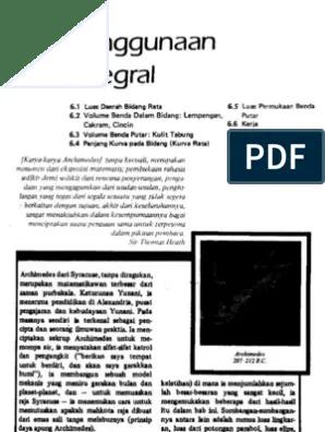 Judul, kalkulus dan geometri analitis jilid 1/ edwin j purcell dan dale. Kalkulus Dan Geomatri Analisis Jilid 1 Bab 6 Pdf