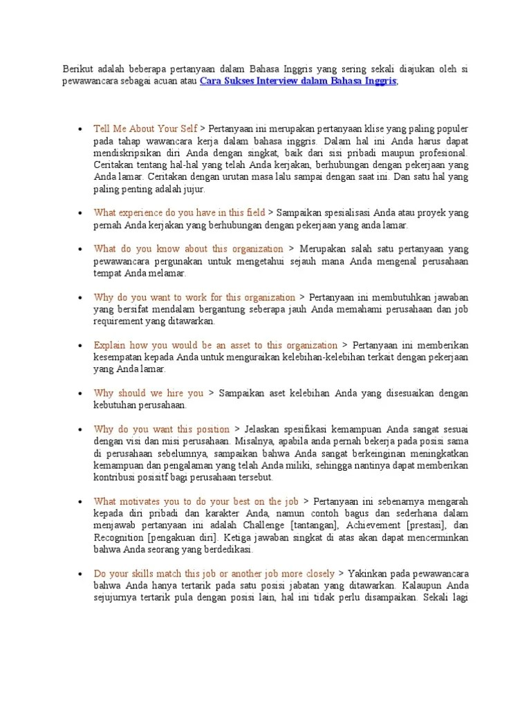 Contoh Interview Dalam Bahasa Inggris : contoh, interview, dalam, bahasa, inggris, Contoh, Interview, Kerja, Dalam, Bahasa, Inggris, IlmuSosial.id