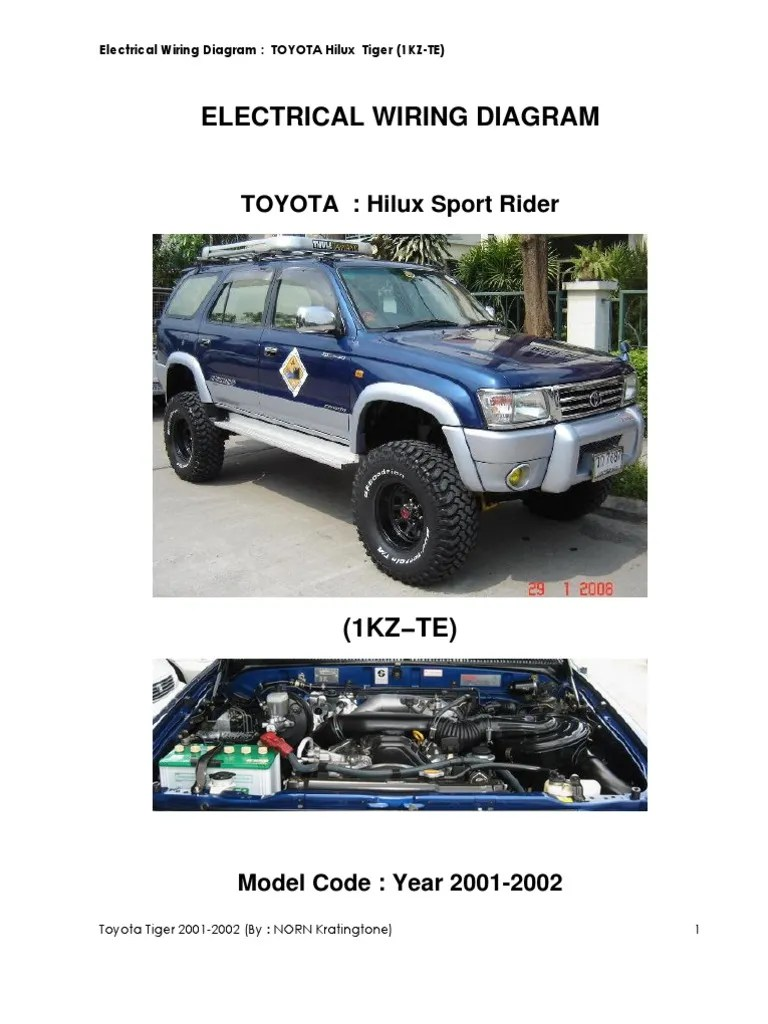 small resolution of auto electrical wiring diagram hilux 2001 free