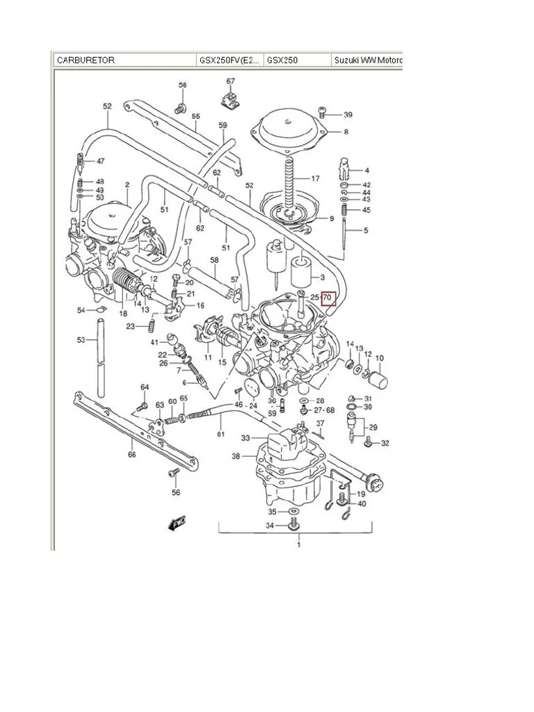Complete mikuni bsw27 Carburettor parts diagram and Part