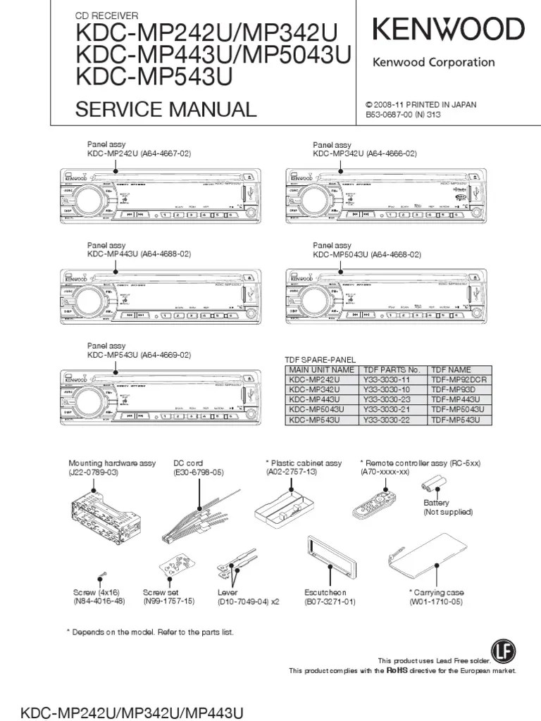kenwood kdc mp345u wiring diagram automotive electrical mp342u - somurich.com