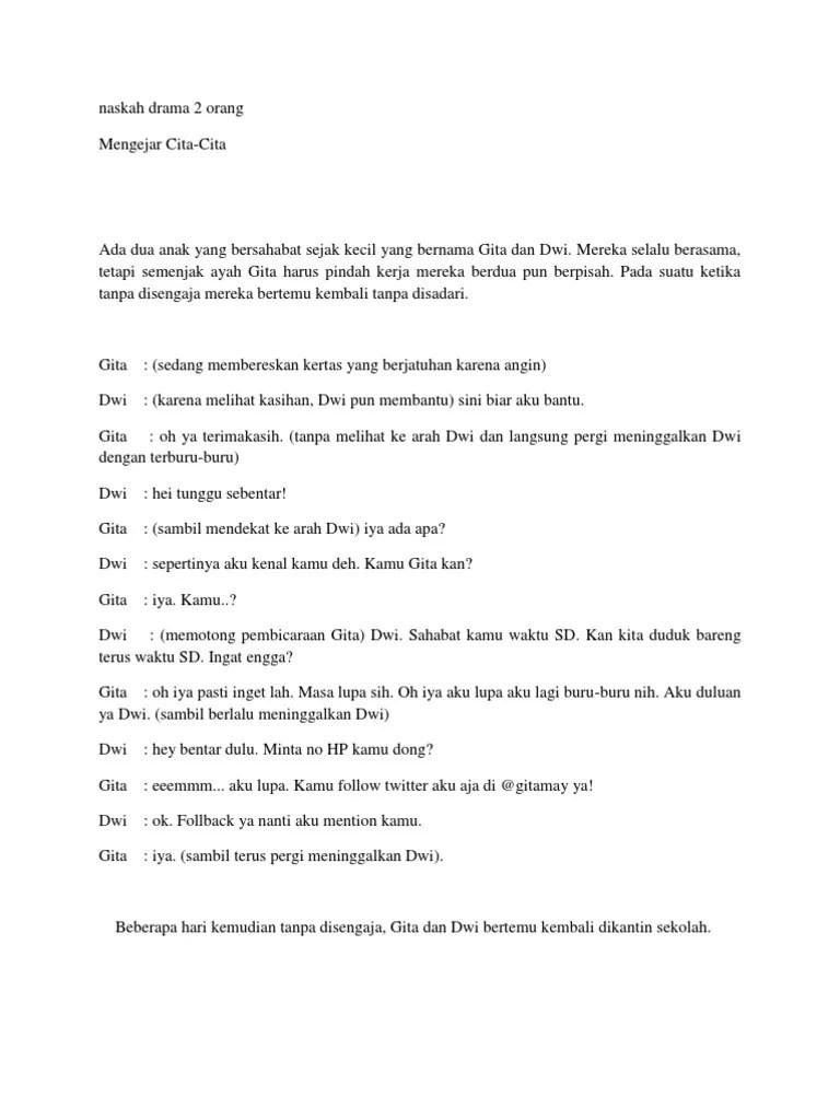 Naskah Drama Dua Orang : naskah, drama, orang, Naskah, Drama, Orang