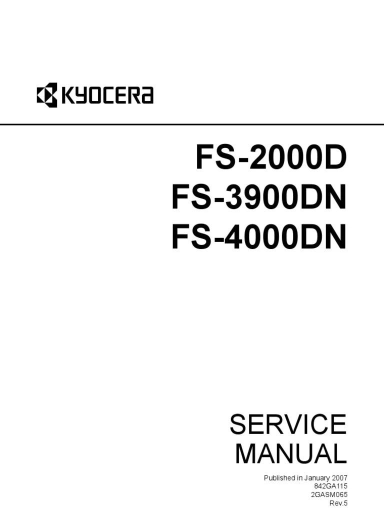 Kyocera Fs-2000d, Fs-3900dn, Fs-4000dn Service Manual