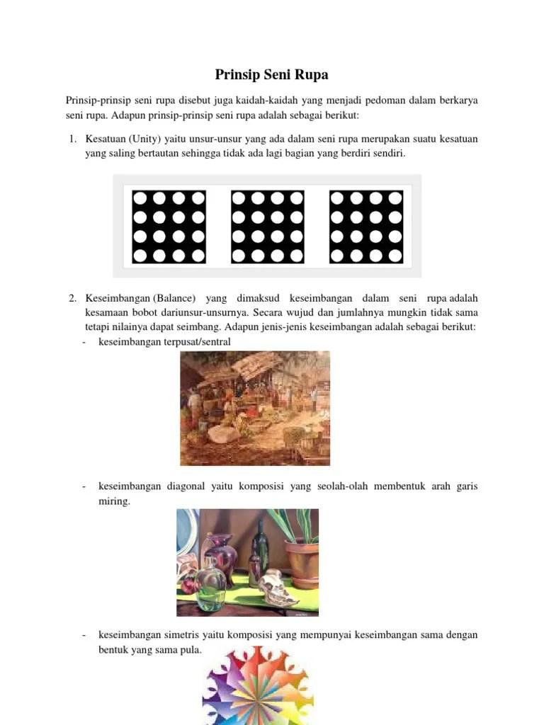 Prinsip Karya Seni Rupa - Seni Rupa dan Sejarah