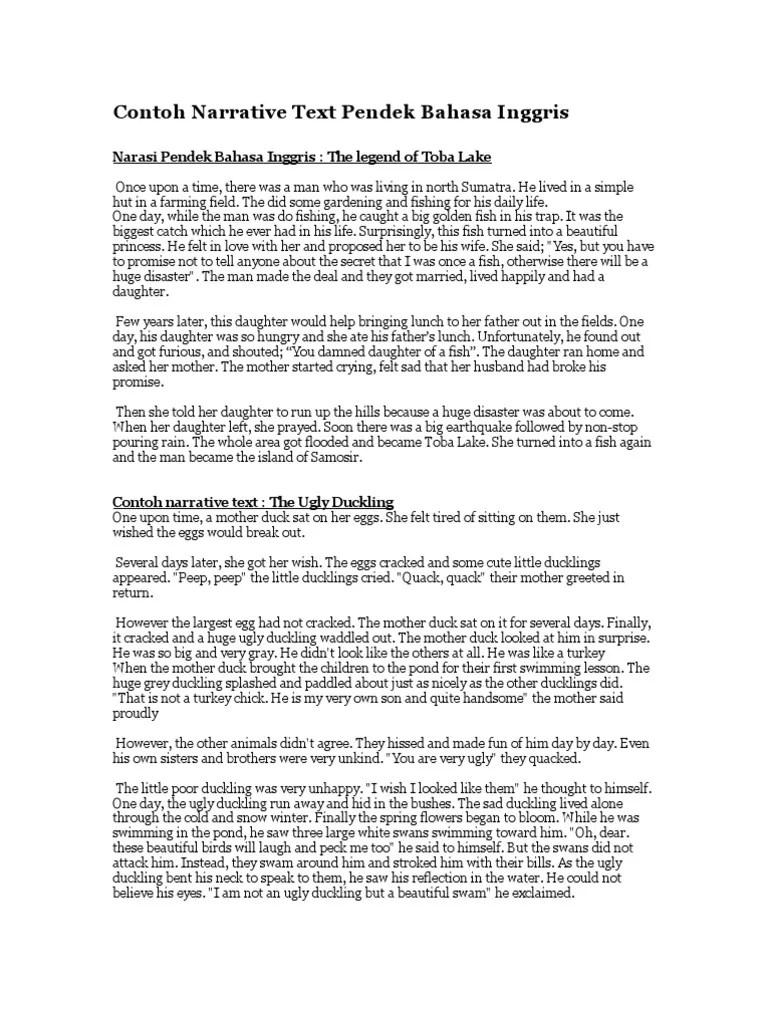 Teks Narasi Bahasa Inggris : narasi, bahasa, inggris, Contoh, Narrative, Pendek, Bahasa, Inggris, Nature
