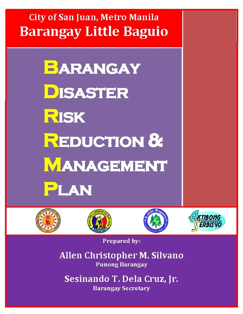 Barangay disaster risk reduction  management plan emergency evacuation also rh scribd