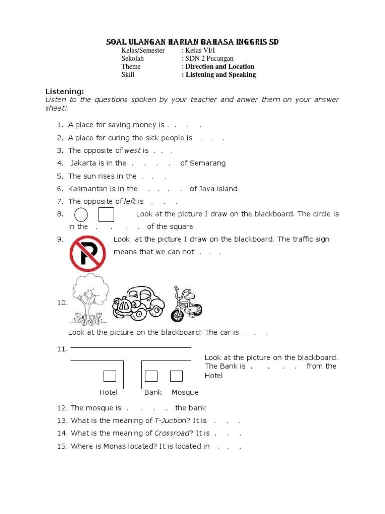 Materi Bahasa Inggris Sd Kelas 1-6 Pdf : materi, bahasa, inggris, kelas, Materi, Bahasa, Ingris, Kelas