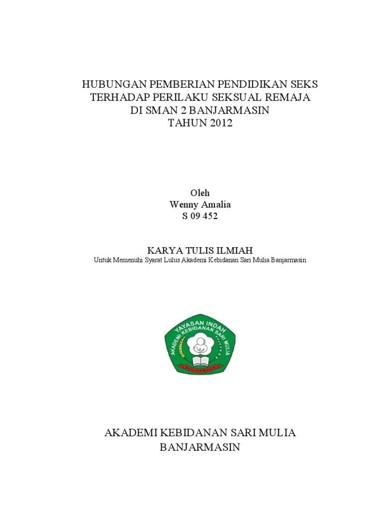 Judul Karya Tulis : judul, karya, tulis, Judul, Karya, Tulis, Ilmiah, Perilaku, Seksual, Pendidikan