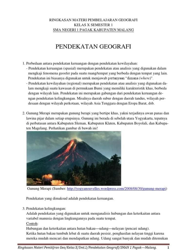 Pendekatan Geografi Dan Contoh : pendekatan, geografi, contoh, Ringkasan, Materi, Pembelajaran, Geografi, Pendekatan, Smapa, Yoedh.