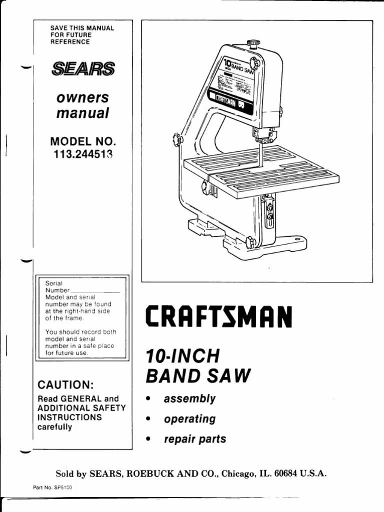 medium resolution of wrg 6981 band saw wiring diagram craftsman 10 table saw wiring diagram
