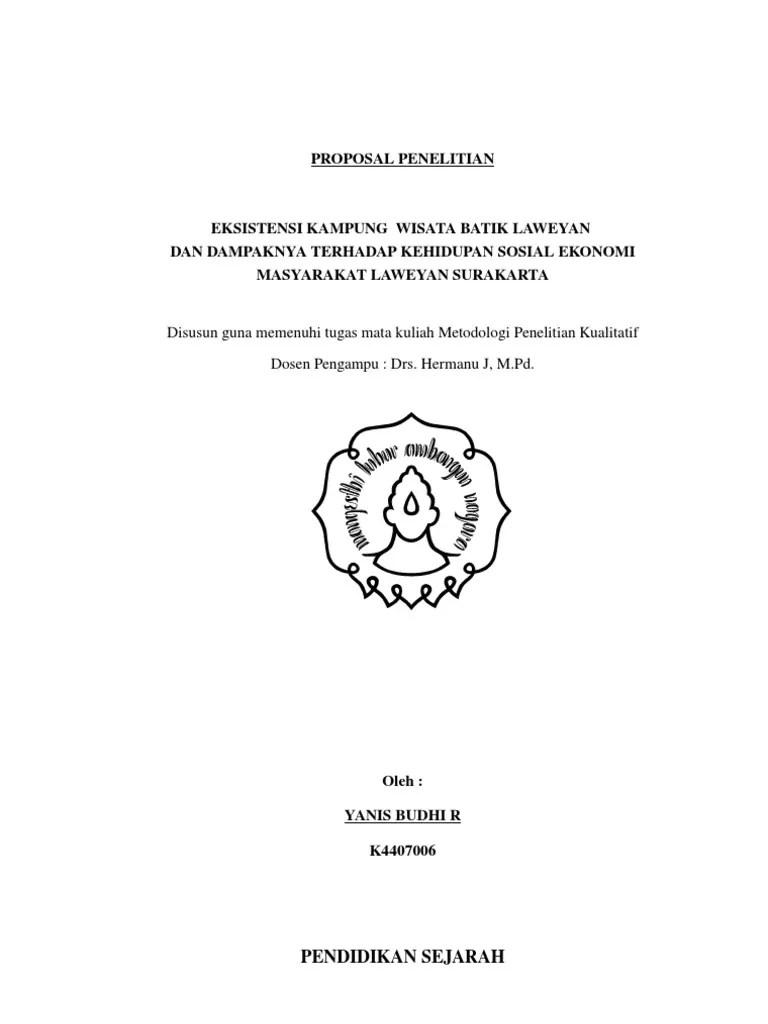 Contoh Proposal Penelitian Pendidikan Kualitatif