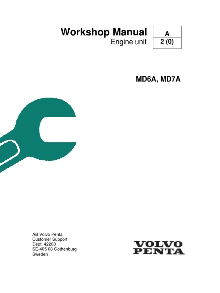 medium resolution of volvo penta md6a md7a workshop manual piston fuel injection volvo penta md7a wiring diagram
