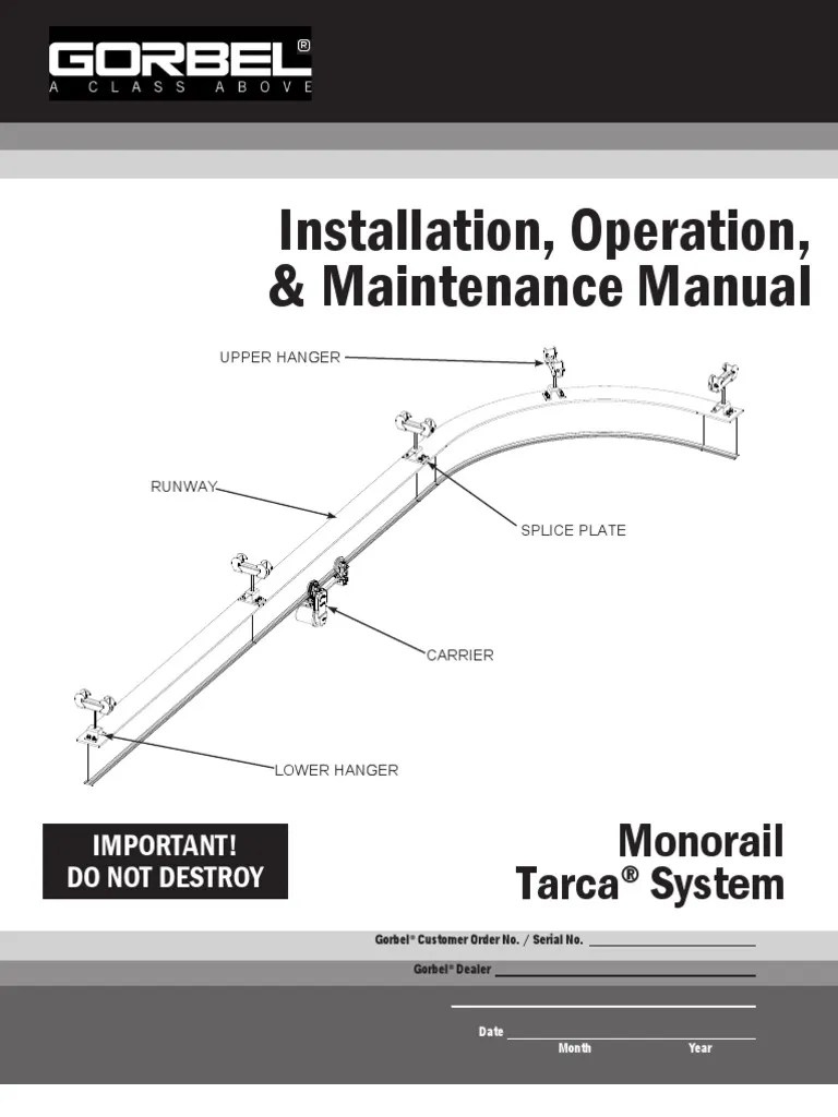 small resolution of monorail crane wiring diagram