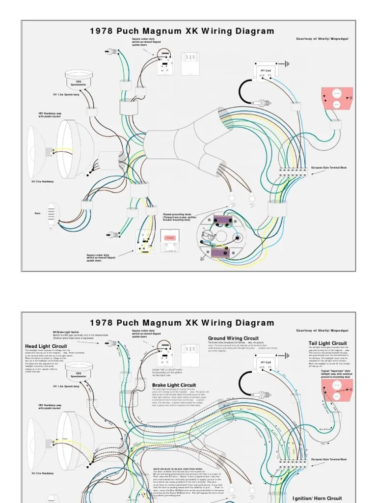 medium resolution of 1978 puch magnum xk wiring diagram ignition system switch