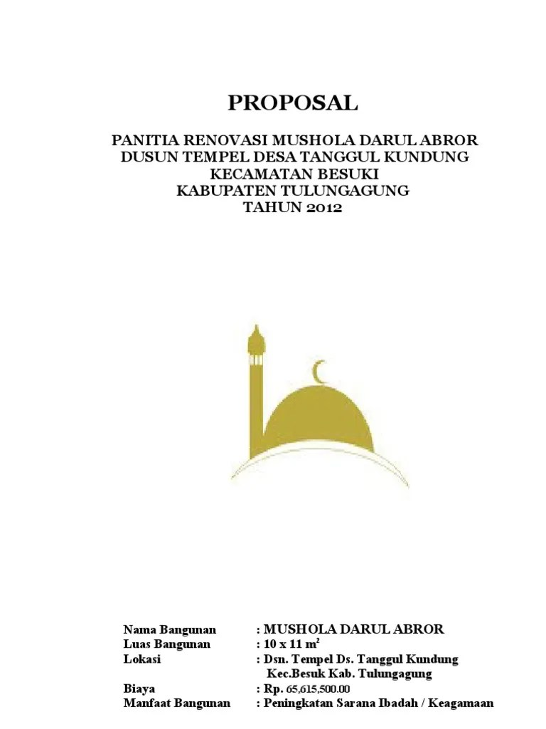 Proposal Renovasi Mushola : proposal, renovasi, mushola, PROPOSAL, RENOVASI, MUSHOLA, DARUL, ABROR
