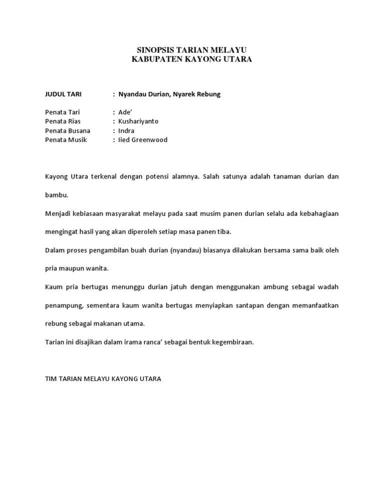 Sinopsis Tari Kreasi : sinopsis, kreasi, Sinopsis, Tarian, Melayu