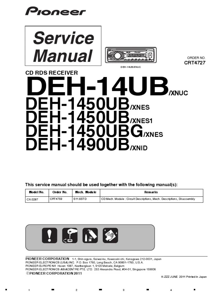 medium resolution of deh 14ub pioneer wiring diagram