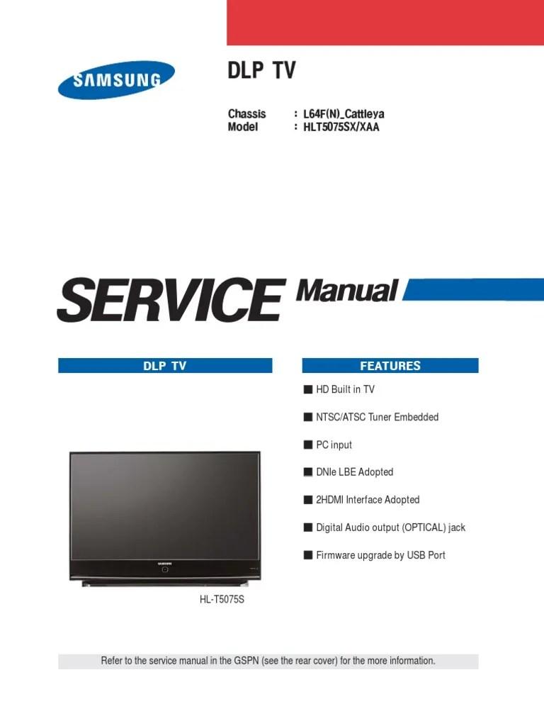 hight resolution of hlt5075s service manual hdmi electrostatic discharge samsung dlp wiring diagram
