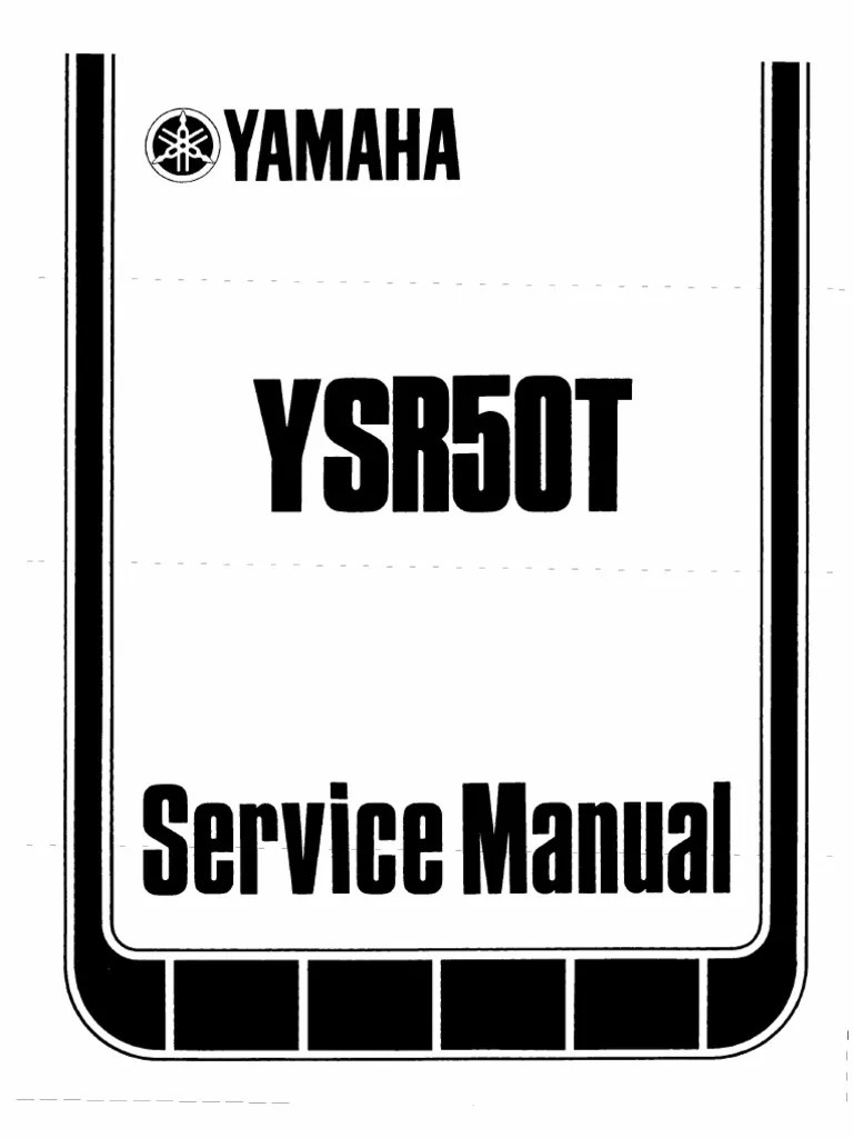 hight resolution of 1987 yamaha ysr 50t service manual suspension vehicle transmission mechanics