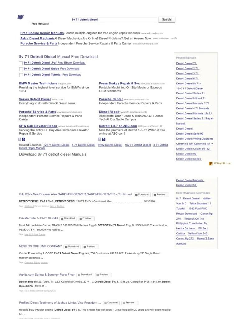 hight resolution of 38003571 the manuals com 8v 71 detroit diesel manual pdf rh pt scribd com