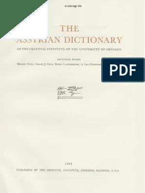Arti Dari 26 Kan Aku Di 77 Mu : Dicionário, Assírio, Volume, Parte, Babilônia, Mesopotâmia