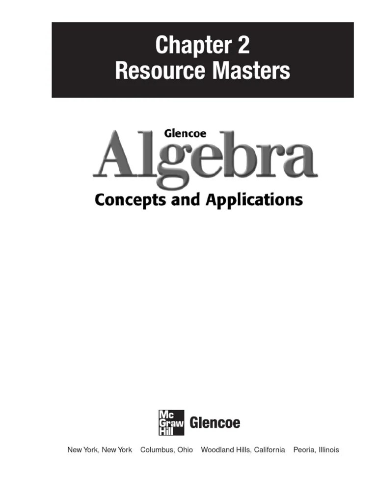 Glencoe Algebra 2 Chapter 4 Study Guide And Intervention