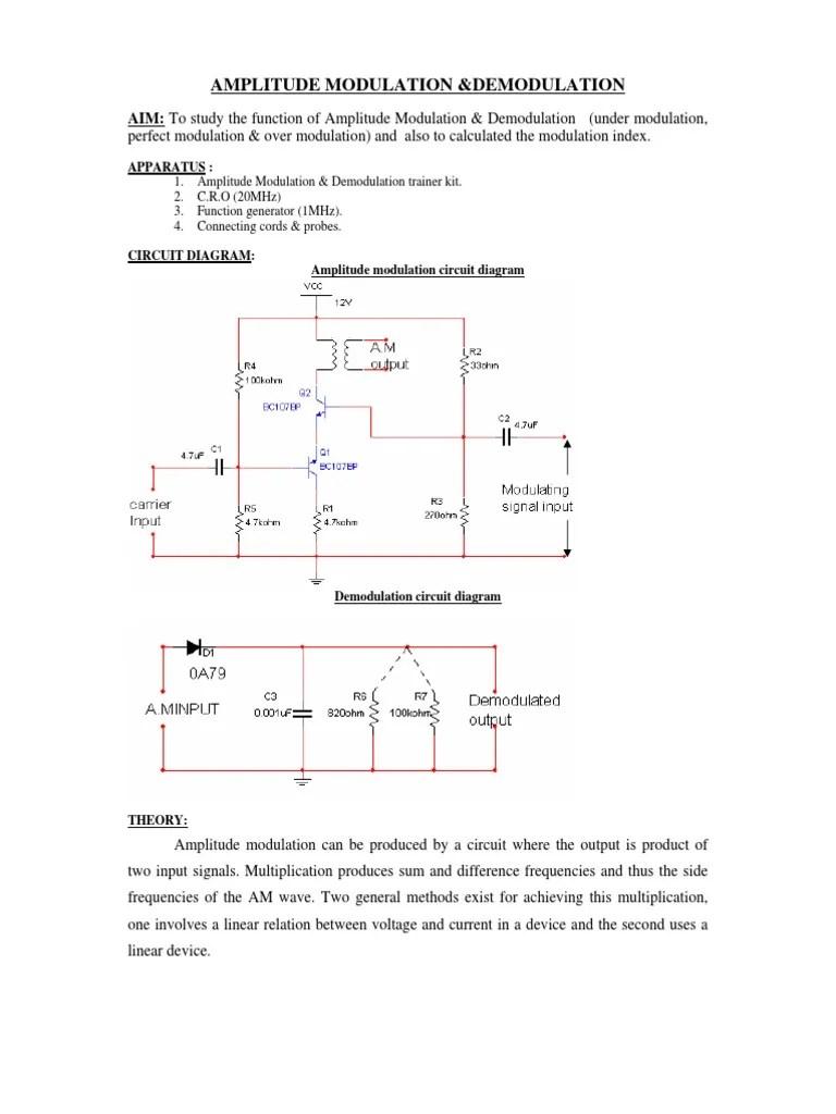 amplitude modulation circuit diagram [ 768 x 1024 Pixel ]