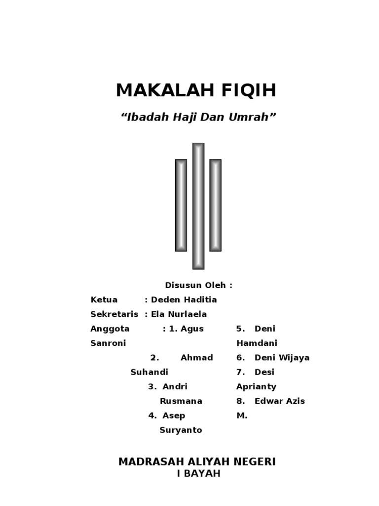 Makalah Haji Dan Umroh : makalah, umroh, Contoh, Makalah, Umroh, Jajaran