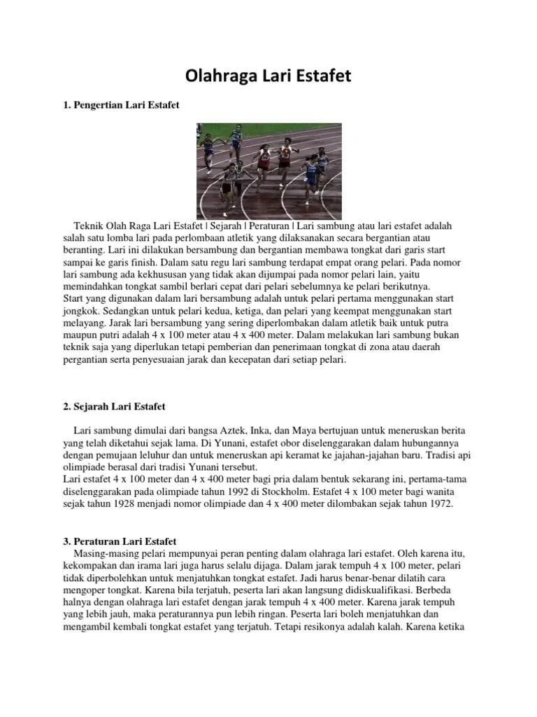 Materi Lari Estafet : materi, estafet, Olahraga, Estafet