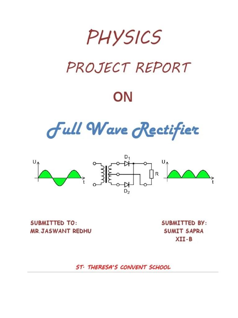 half wave bridge rectifier diagram [ 768 x 1024 Pixel ]