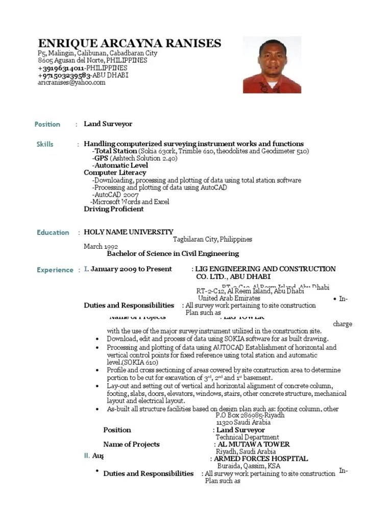 Cover letter for resume quantity surveyor