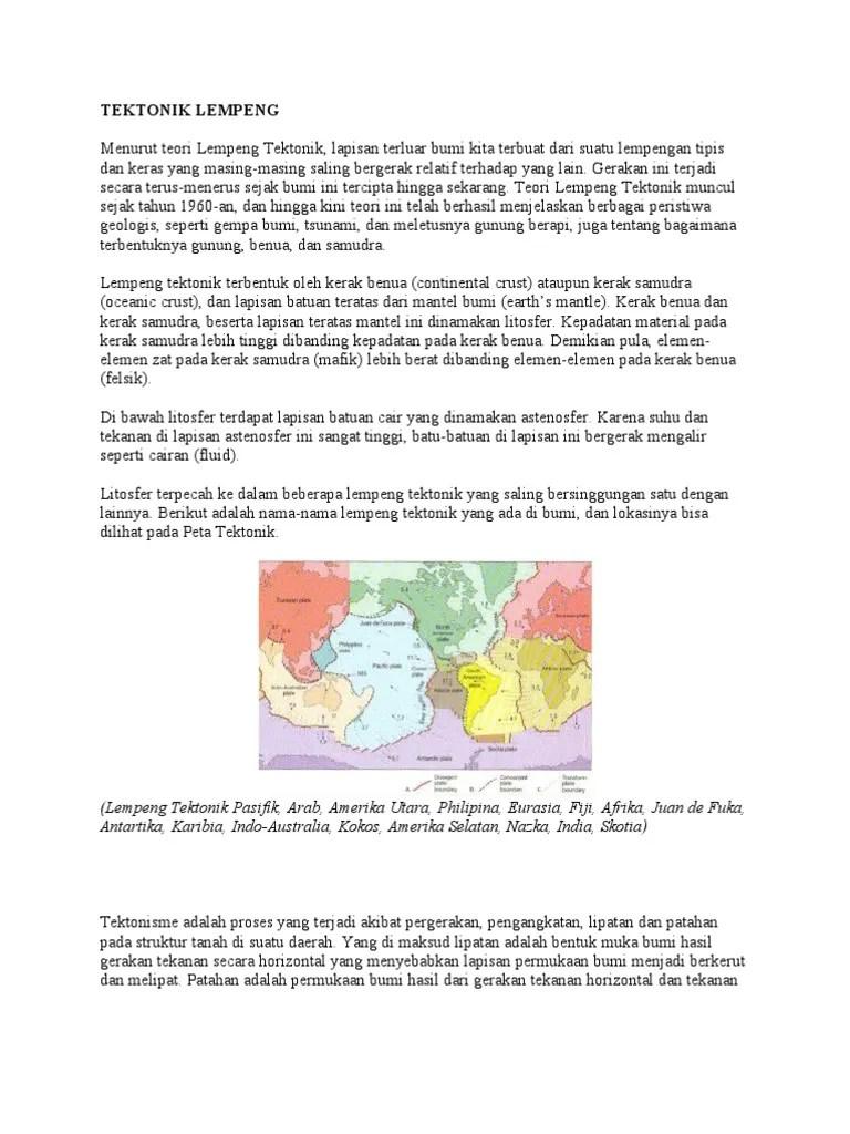 Pergerakan Lempeng Indo-australi Dengan Lempeng Antartika Terjadi Secara : pergerakan, lempeng, indo-australi, dengan, antartika, terjadi, secara, Tektonik, Lempeng