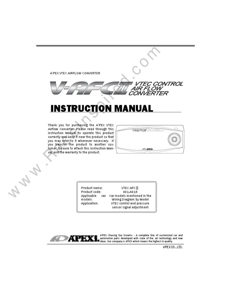 apexi v afc ii manual engines engine technology [ 768 x 1024 Pixel ]