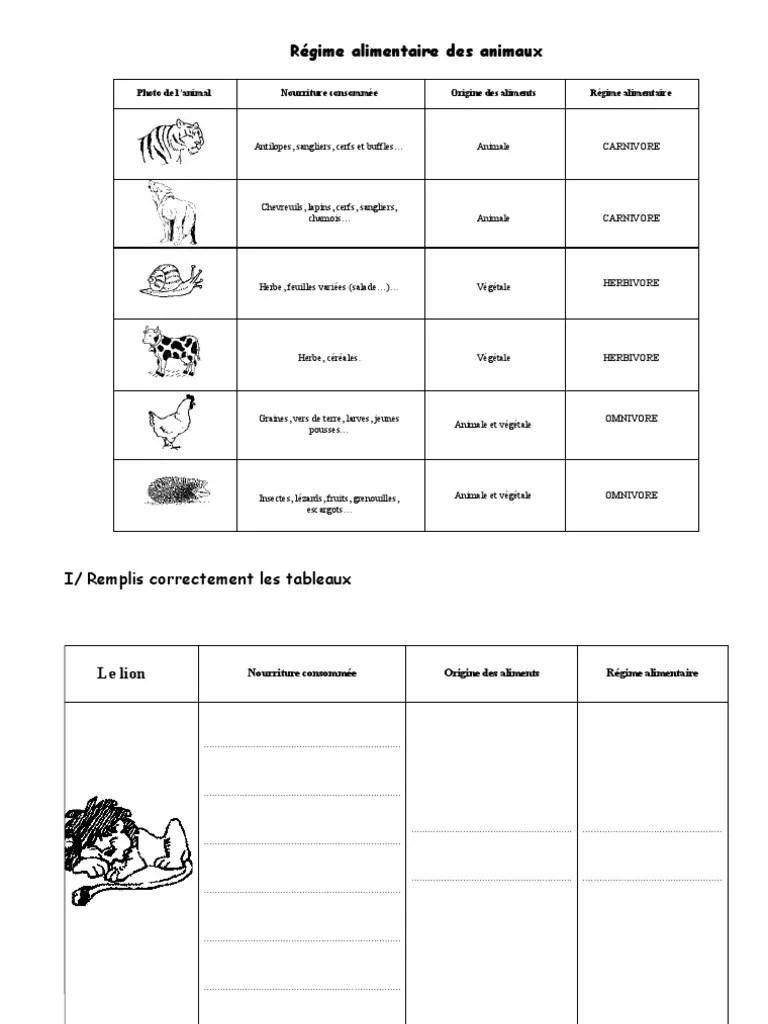 Les Régimes Alimentaires Des Animaux : régimes, alimentaires, animaux, Imprimer, Exercices, Regimes, Alimentaires, Animaux