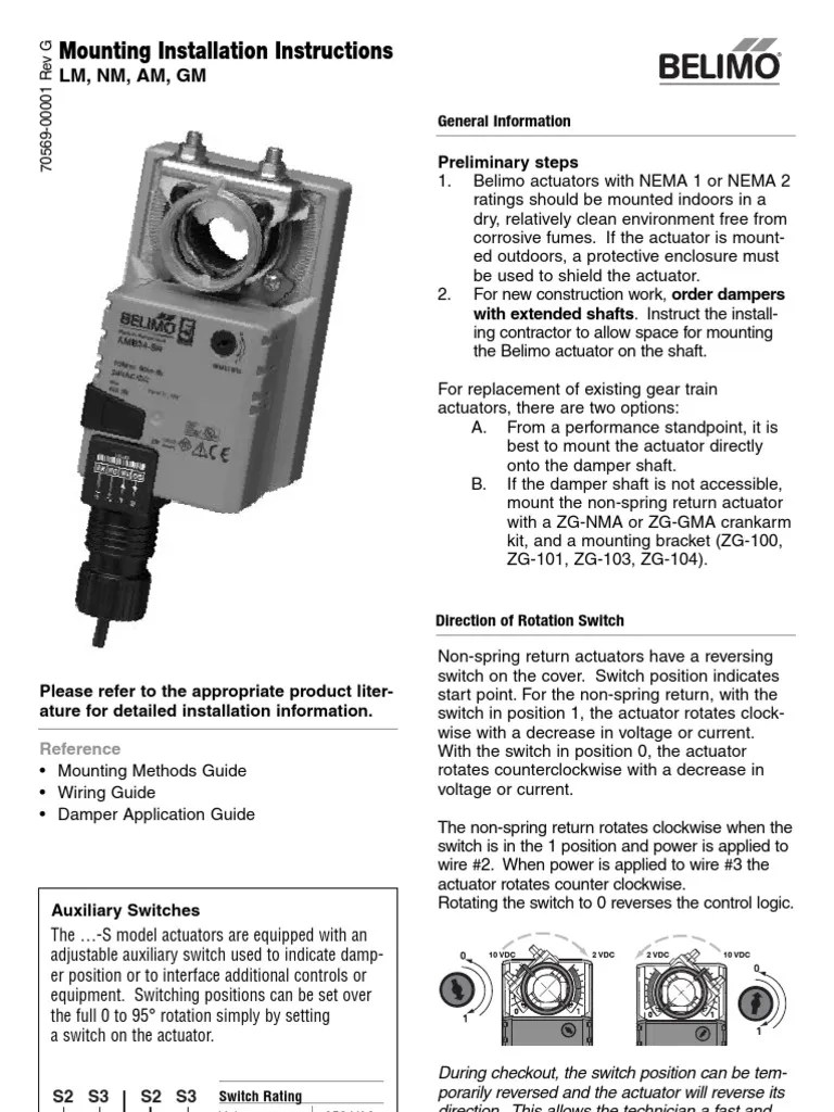 amb24 sr installation instructions switch power supply on schlage wiring diagram belimo  [ 768 x 1024 Pixel ]