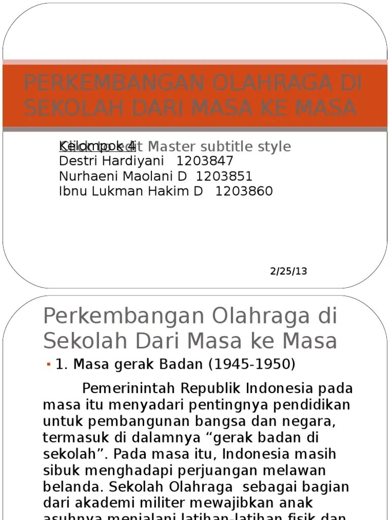 Sejarah Perkembangan Olahraga Di Indonesia : sejarah, perkembangan, olahraga, indonesia, Perkembangan, Olahraga