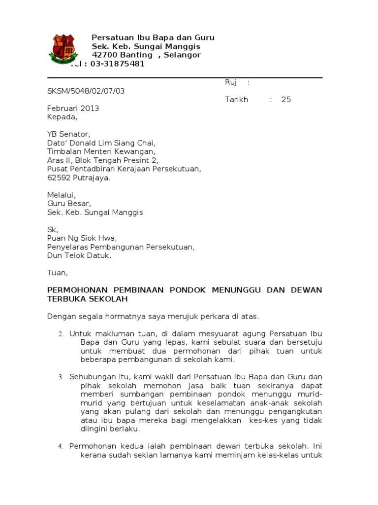 Surat Mohon Bantuan Yb Cute766