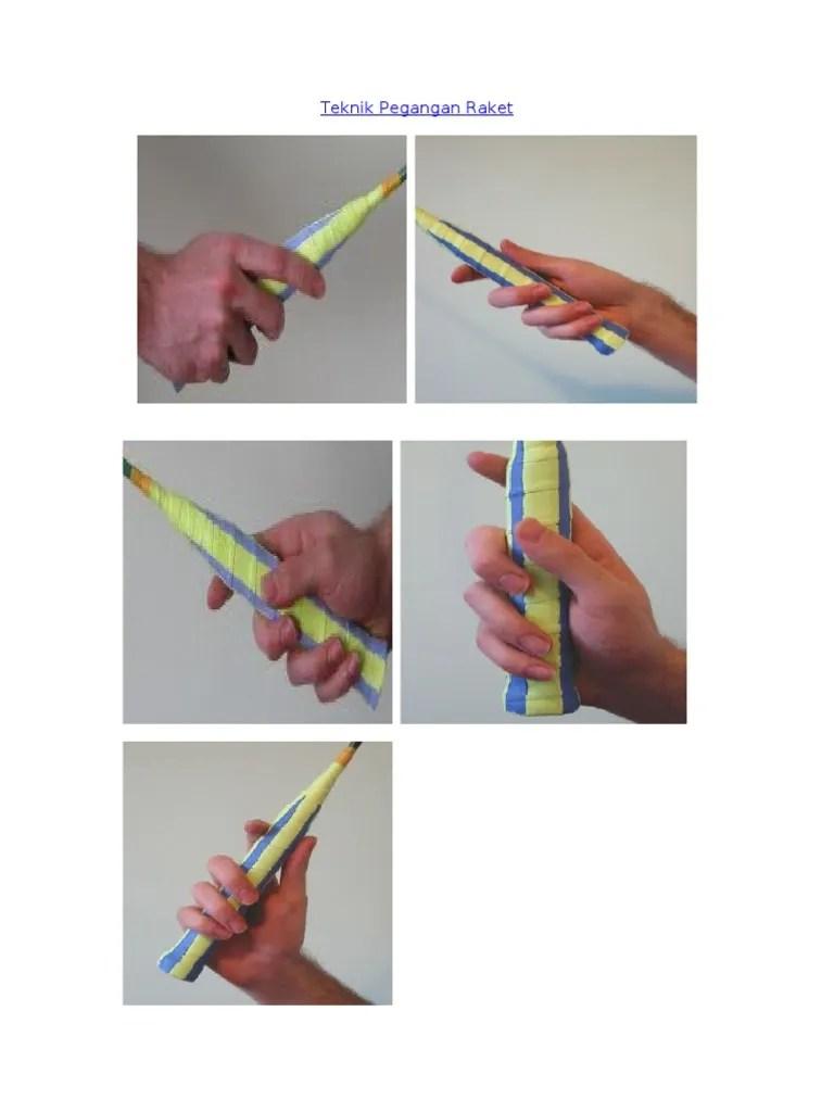 Pegangan Raket : pegangan, raket, Teknik, Pegangan, Raket