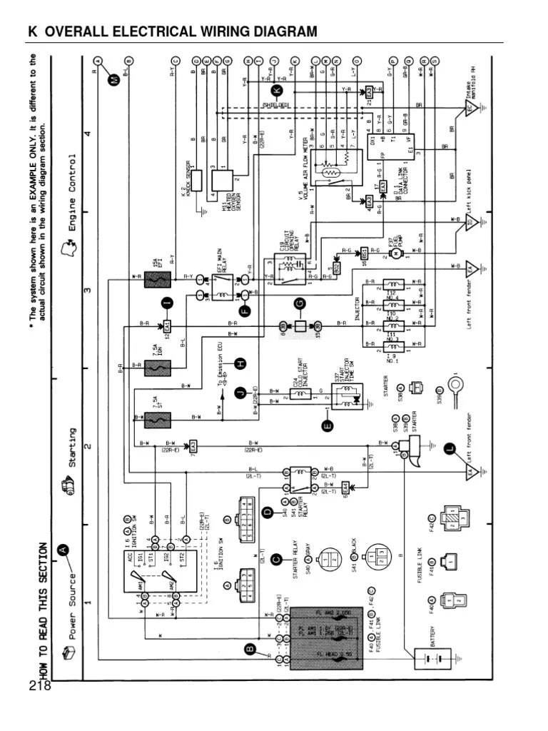 hight resolution of toyota coralla 1996 wiring diagram overall wiring diagram toyota 4a fe