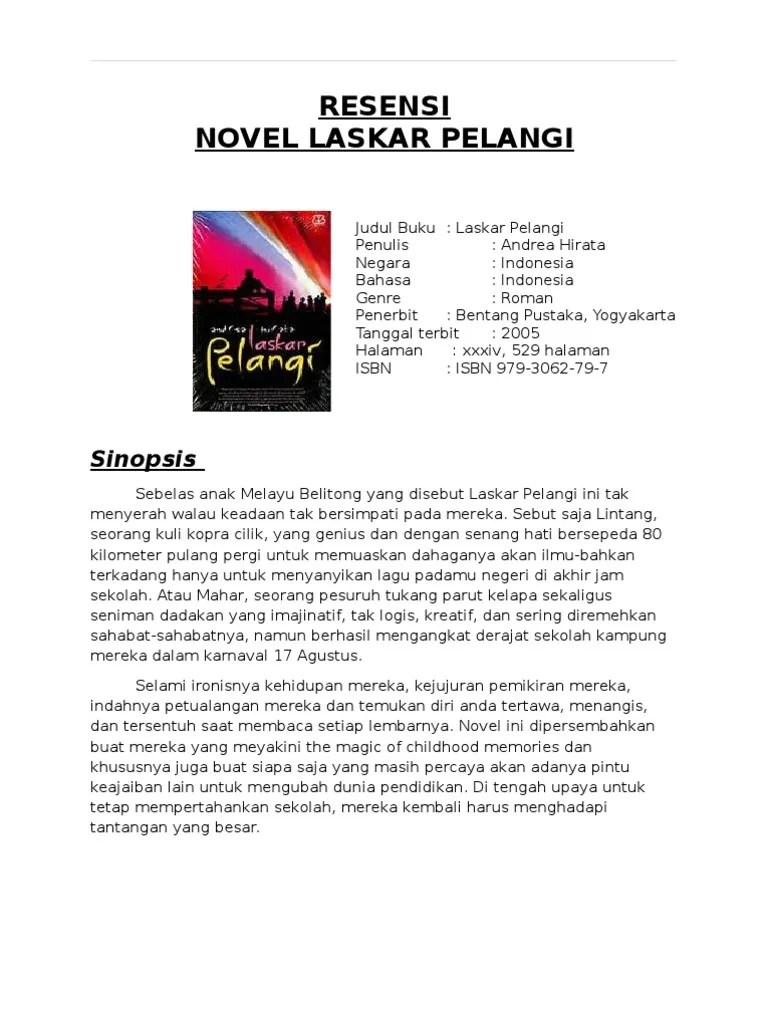Cara Membuat Sinopsis Novel : membuat, sinopsis, novel, Ringkasan, Novel, Laskar, Pelangi, Lengkap, Fasrzip